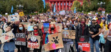 Команда Екоальтернативи на марші за права тварин (фото)